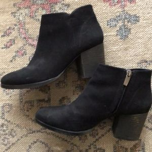 Black Vince Camuto Suede Ankle Booties